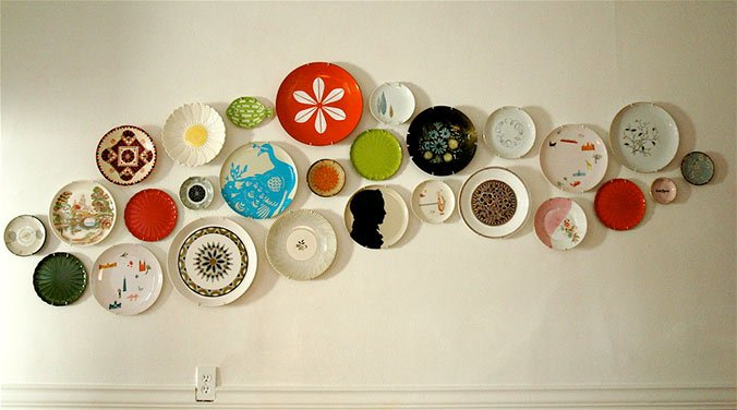 platos decoracion pared